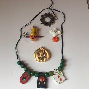 Lot of vintage Halloween jewelry